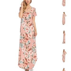 Pink Floral Maxi🌸